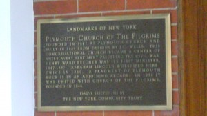 The Plymouth Church is a New York Landmark