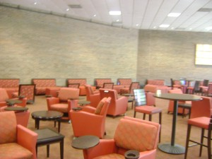 The lounge in the Camden Campus Center